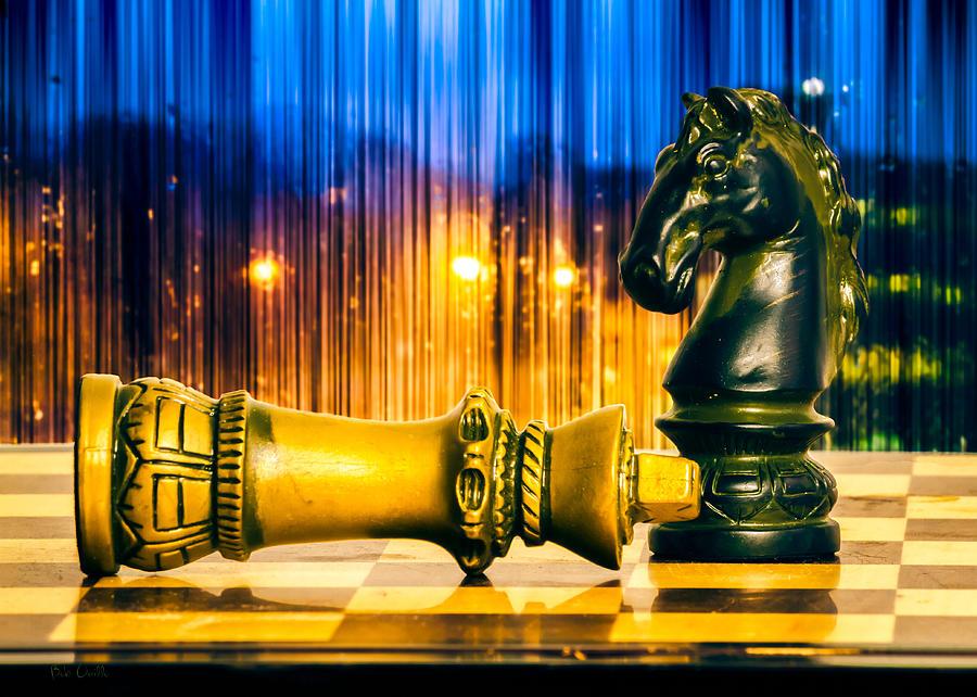 Chess Photograph - Condescending Knight by Bob Orsillo