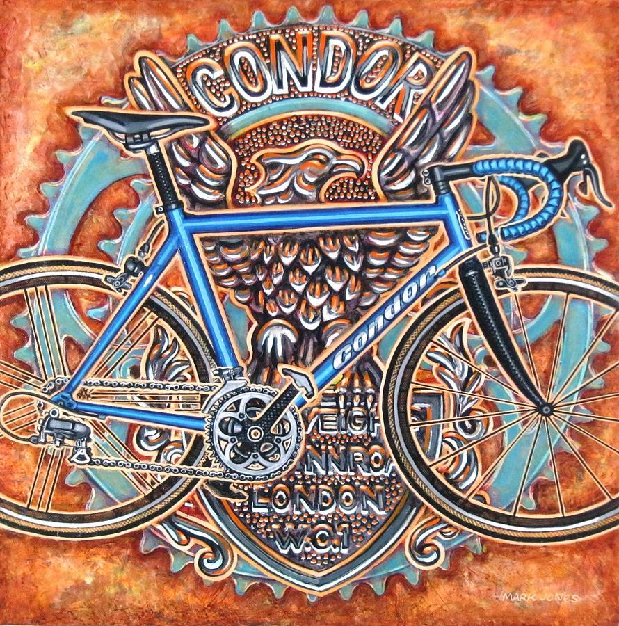 Bicycle Painting - Condor Baracchi by Mark Jones