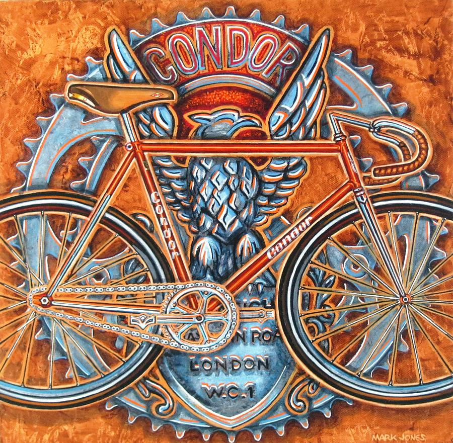 Bicycle Painting - Condor Fixed by Mark Jones