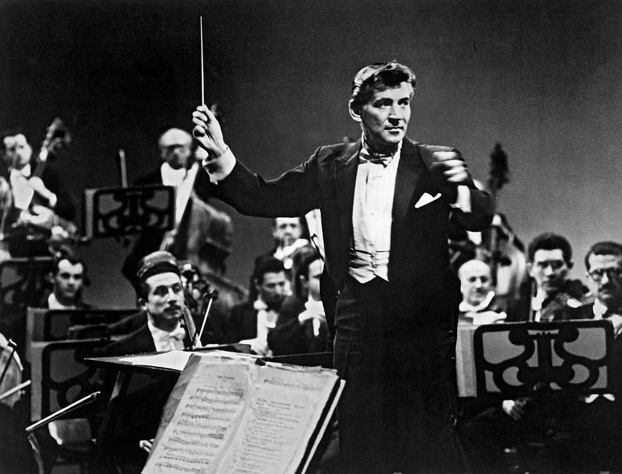Conductor Leonard Bernstein by Underwood Archives