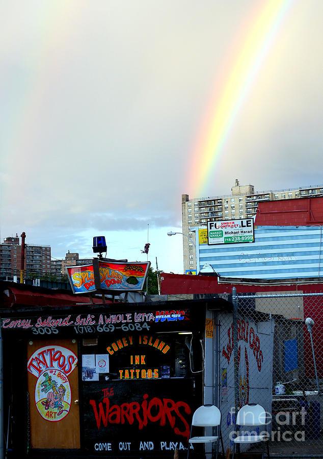 Coney Island Photograph - Coney Island Rainbow by Robert Riordan