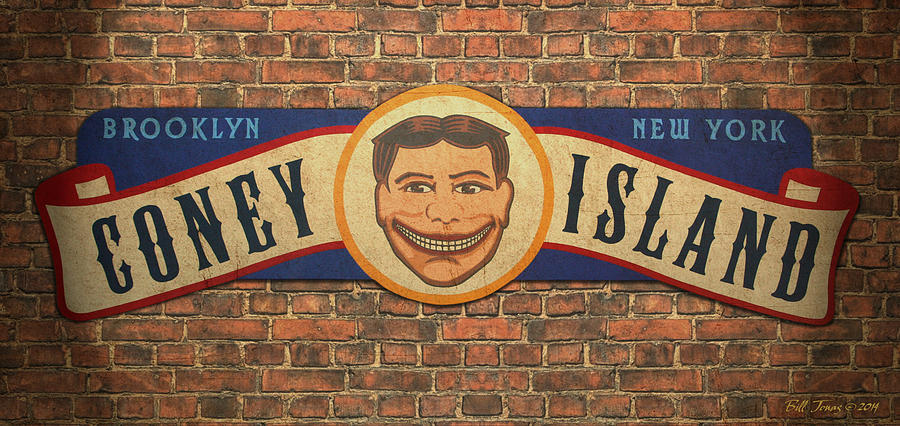 Sign Painting - Coney Island Sign by Bill Jonas