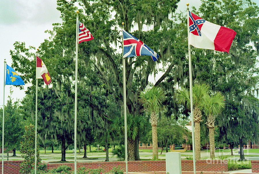 Flag Photograph - Confederate - Flags Of My Ancestors by Wayne Nielsen