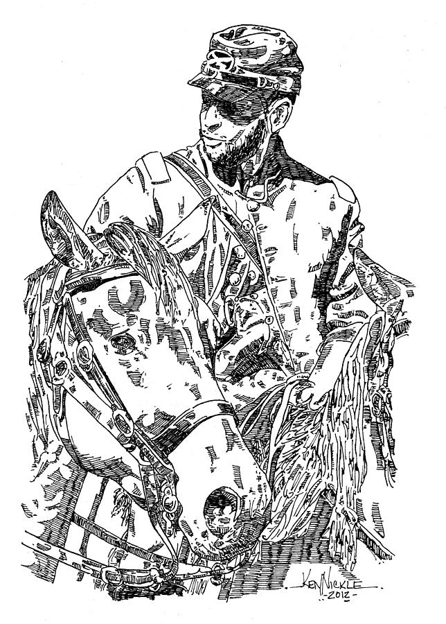confederate soldier drawing by ken nickle