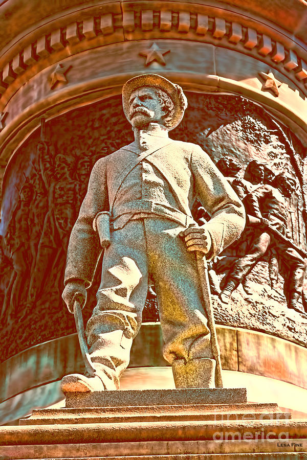 Confederate Photograph - Confederate Soldier Statue I Alabama State Capitol by Lesa Fine