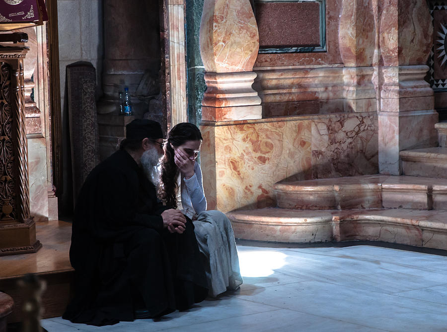 Man Photograph - Confession by Sergey Simanovsky