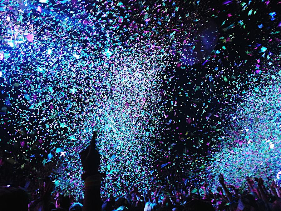 Confetti Falling On Crowd At Concert Photograph by Natalia Martin Rivero / Eyeem