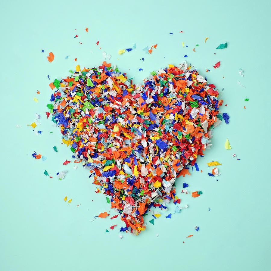 Confetti Heart Photograph by Juj Winn