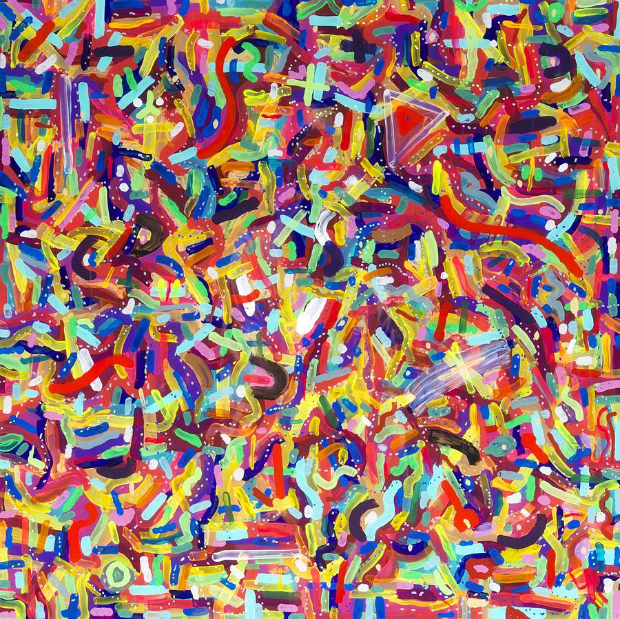 Acrylic Painting - Confetti by Patrick OLeary