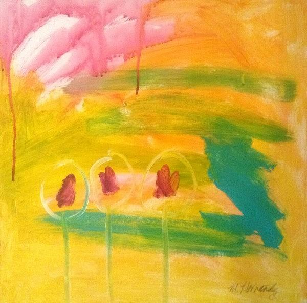 Abstract Painting - Confidants by Maggie Hernandez