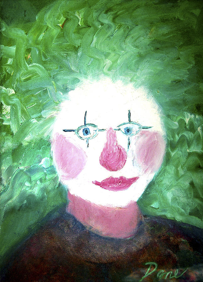 Clown Painting - Confounded Clown by Dane Ann Smith Johnsen