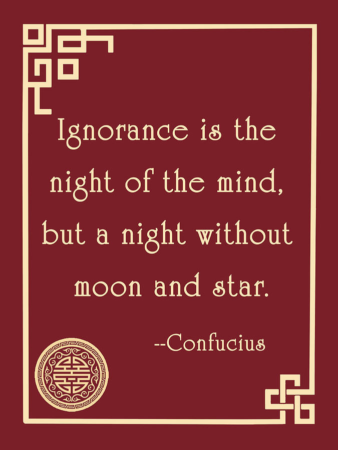 Image result for ignorance is the night of the mind