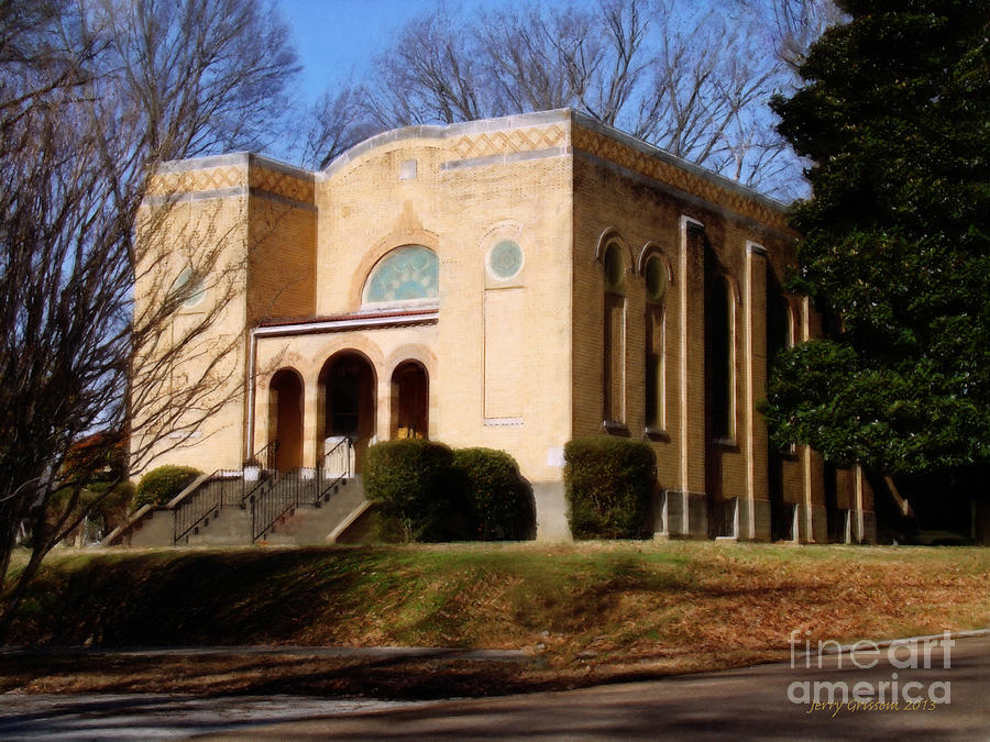 Jackson Tennessee Painting - Congregation Bnai Isreal  by Jerry Grissom