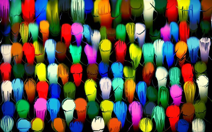 Congregation Painting - Congregation by Karunita Kapoor