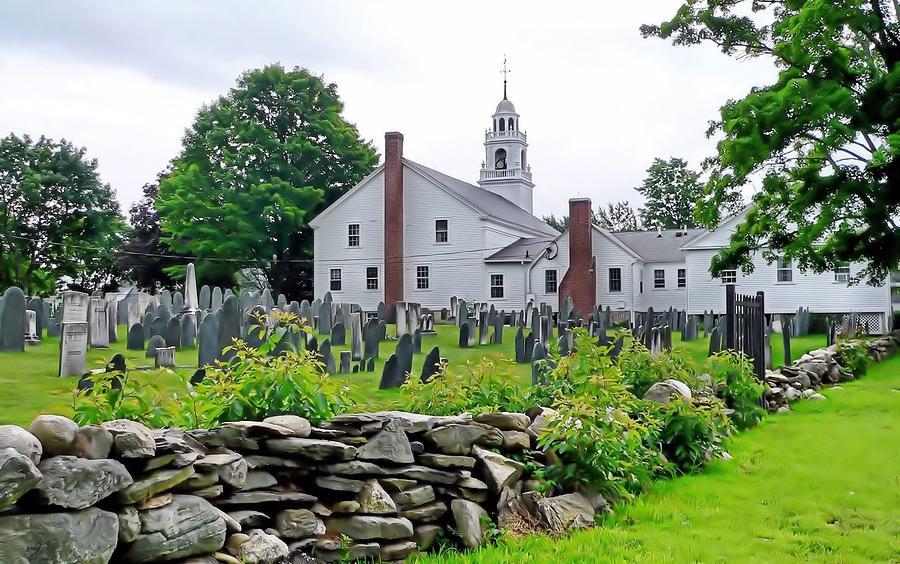 Janice Drew Photograph - Congregational Church Cemetery Hollis Nh by Janice Drew