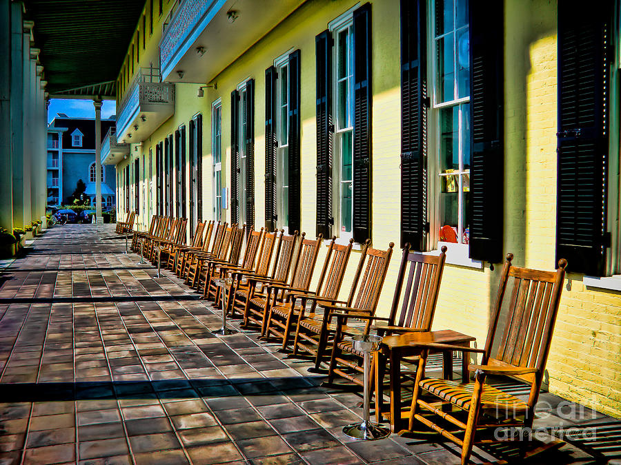 Rocking Chairs Photograph - Congress Hall Rockers by Colleen Kammerer