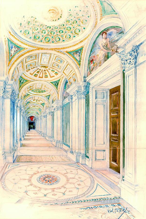 Washington Photograph - Congressional Library Washington Dc 1897 by Padre Art