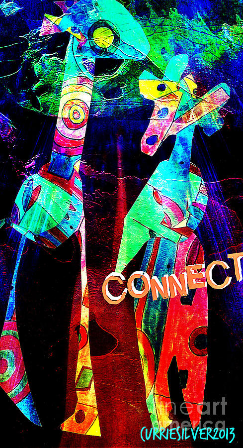 Connect Digital Art by Currie Silver