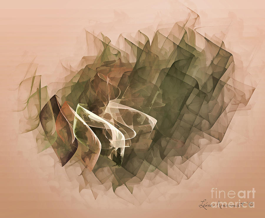 Abstract Digital Art - Connected by Leona Arsenault