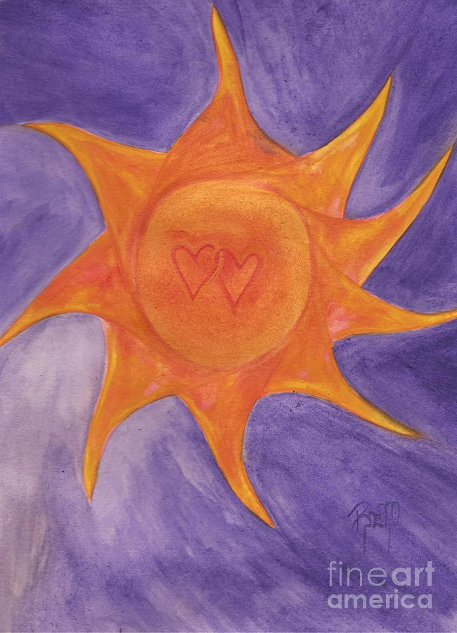 Sun Painting - Connected by Robert Meszaros