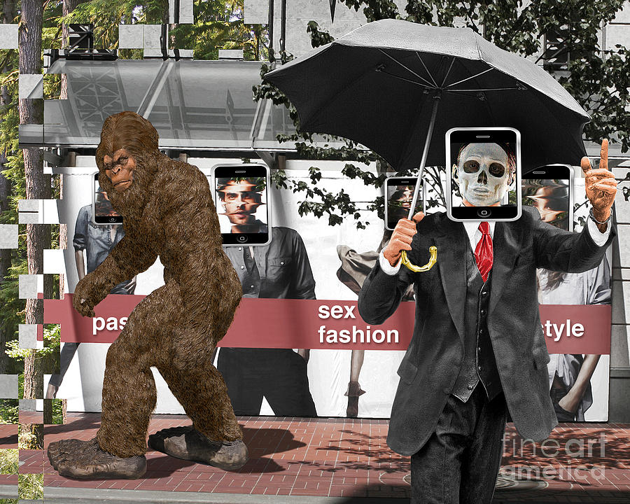 Bigfoot Digital Art - Connected To   What by Keith Dillon