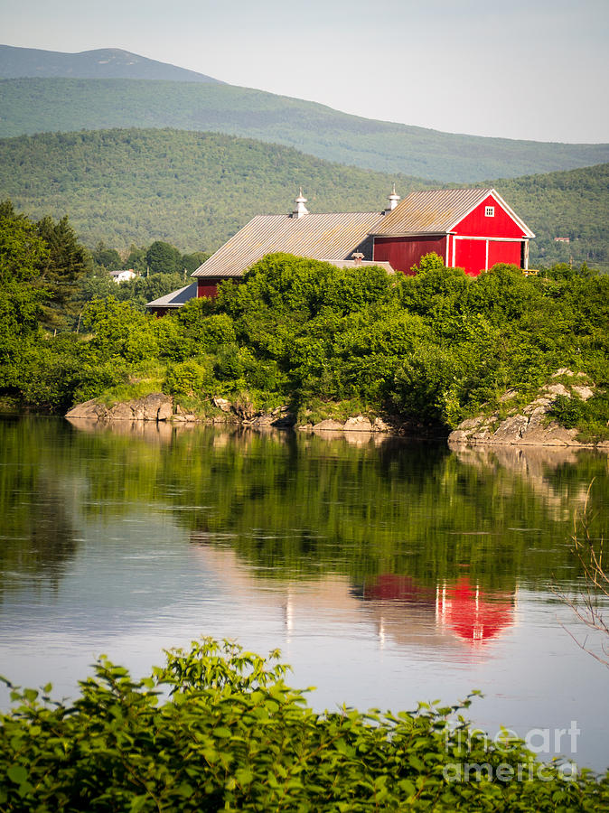 Collection Photograph - Connecticut River Farm by Edward Fielding
