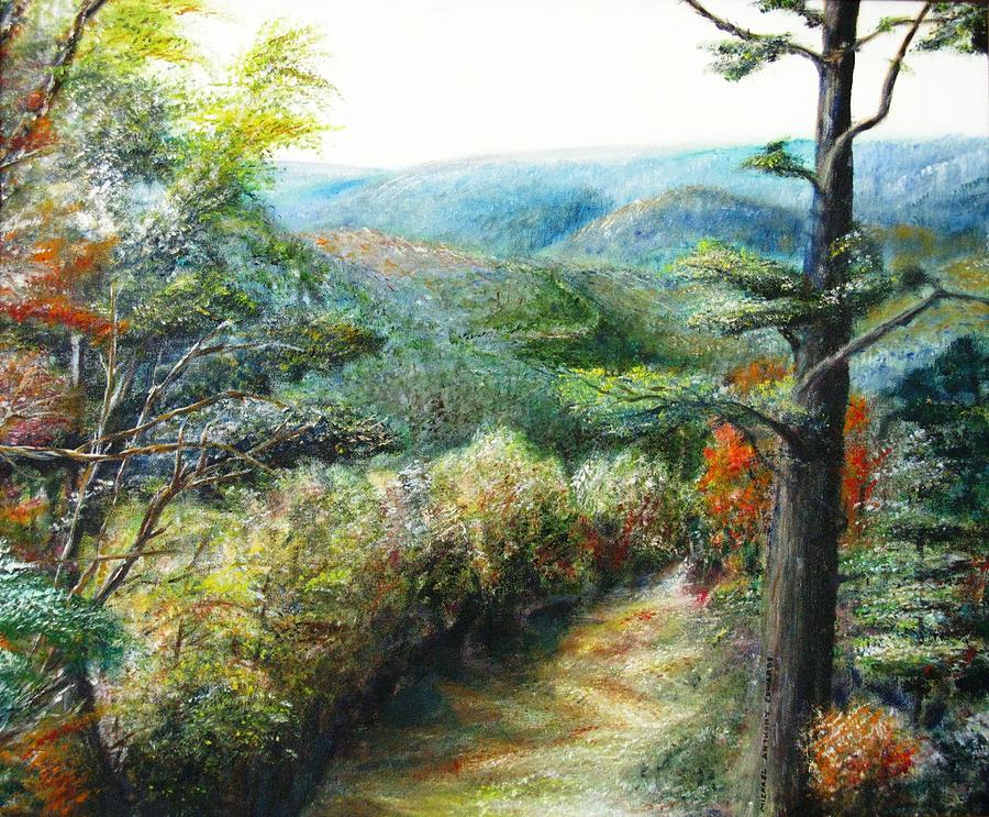 Nature Painting - Connecticut Trail by Michael Anthony Edwards