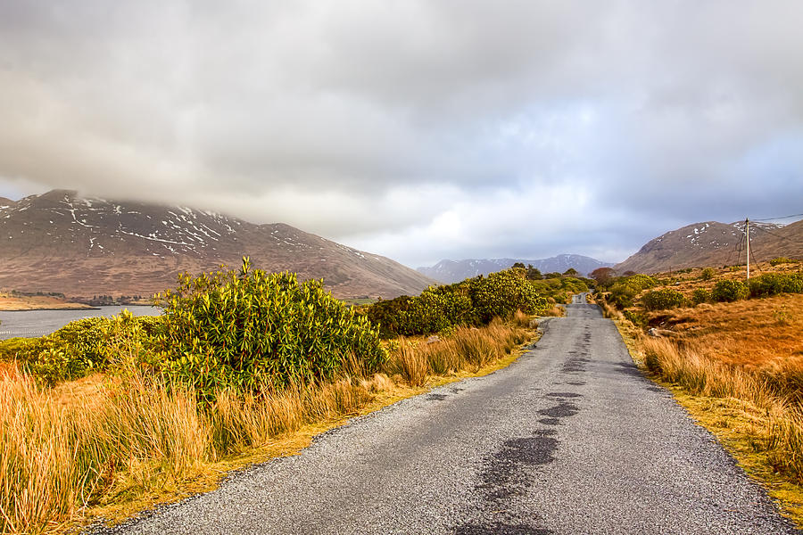 Galway Photograph - Connemara Roads - Irish Landscape by Mark Tisdale