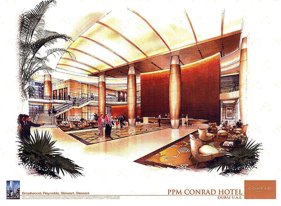CONRAD Hotel Dubai Painting by Jack Adams
