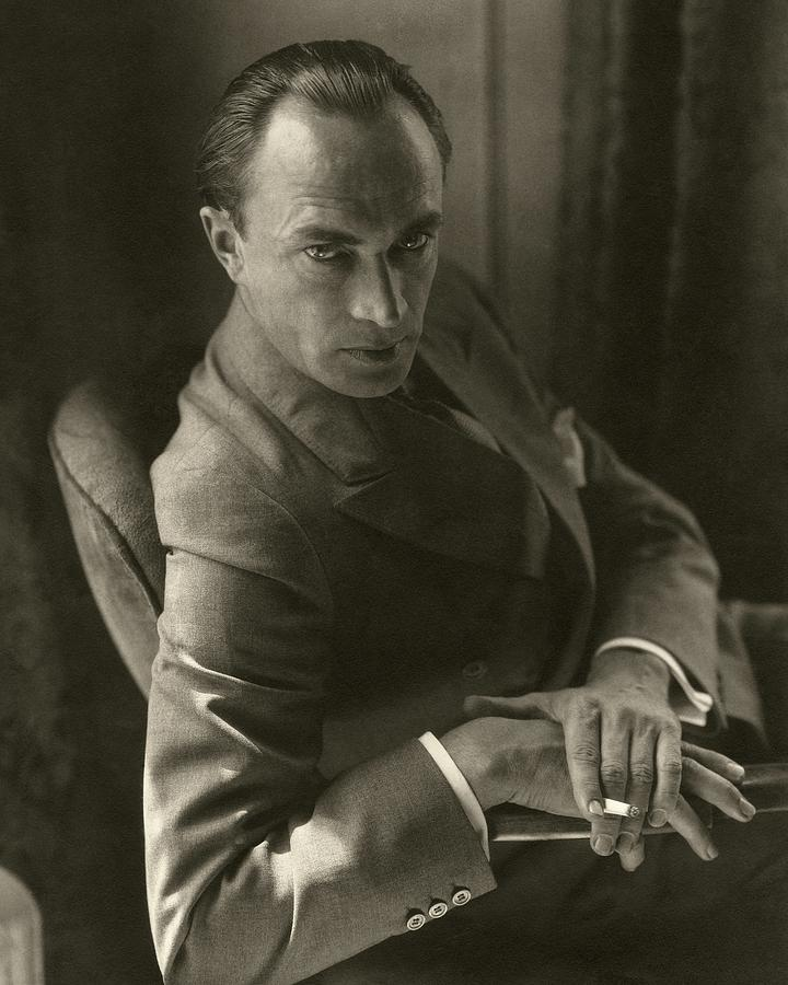 Conrad Veidt Smoking Photograph by Edward Steichen