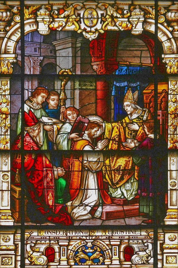 St Photograph - Consecration Of St Augustine Stained Glass Window by Christine Till