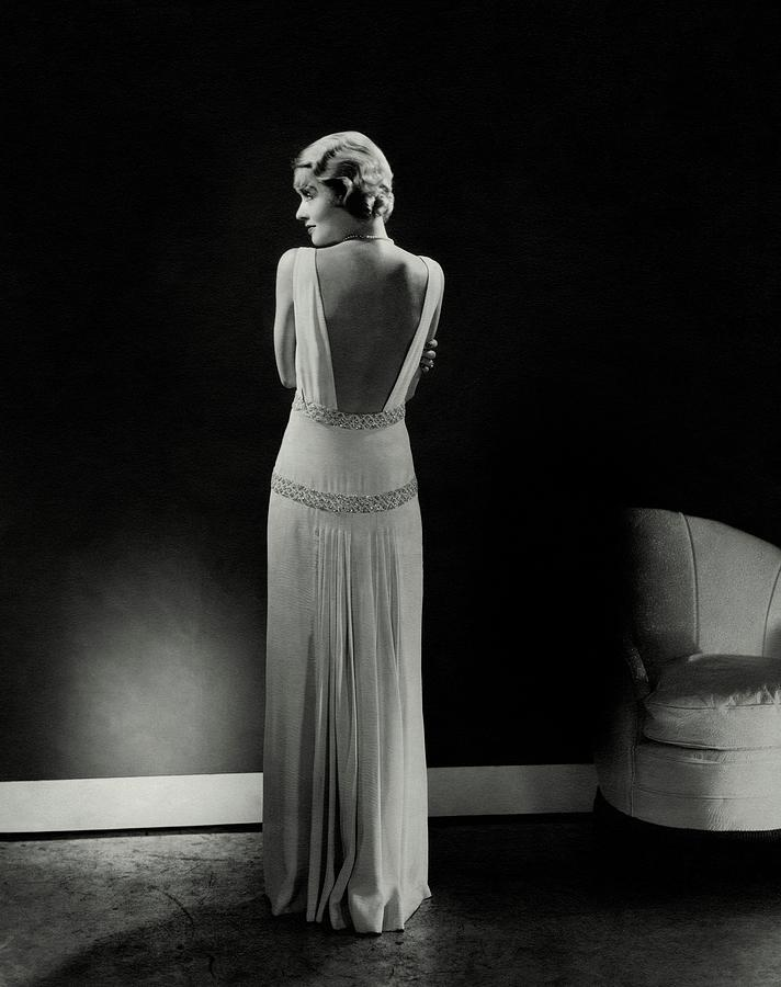 Constance Bennett As Seen From Behind Photograph by Edward Steichen