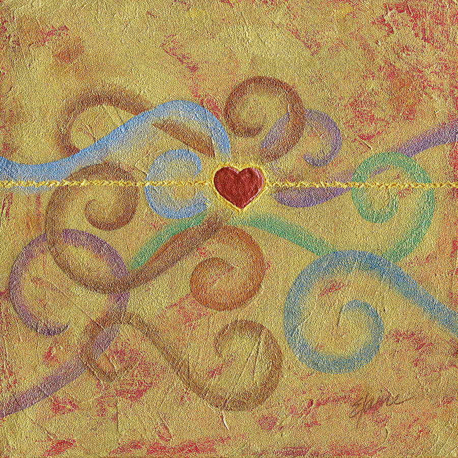 Heart Painting - Constant in Chaos by Elaine Allen
