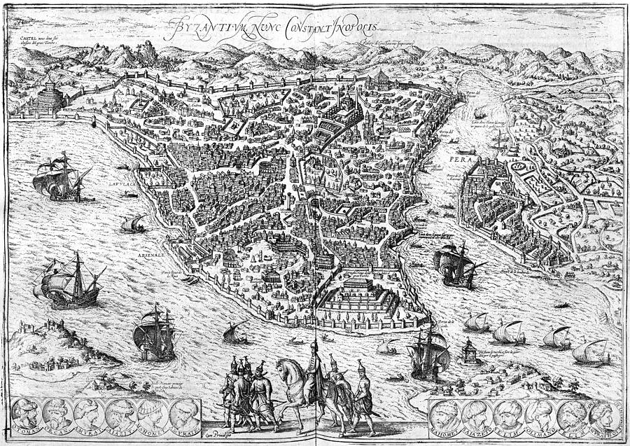 Abraham Photograph - Constantinople, 1576 by Granger