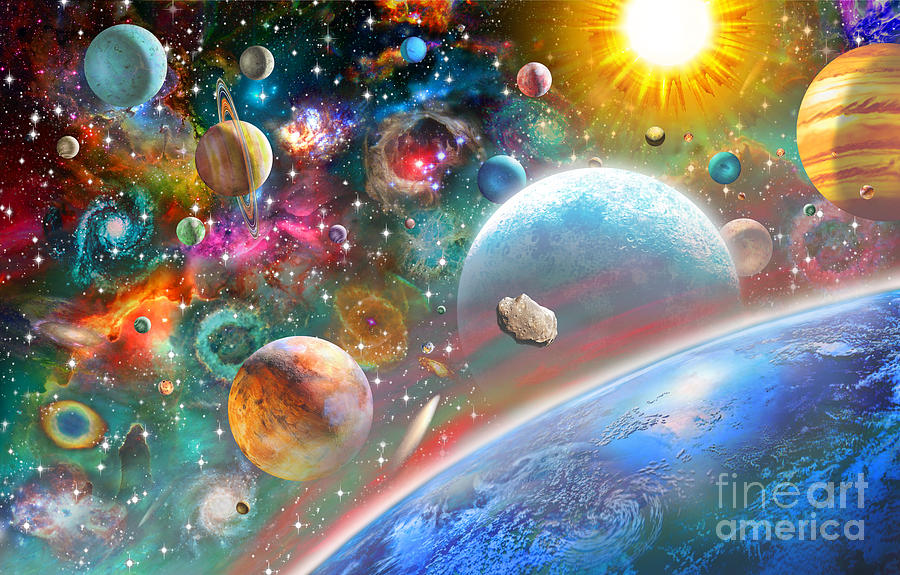 Adrian Chesterman Digital Art - Constellations And Planets by Adrian Chesterman