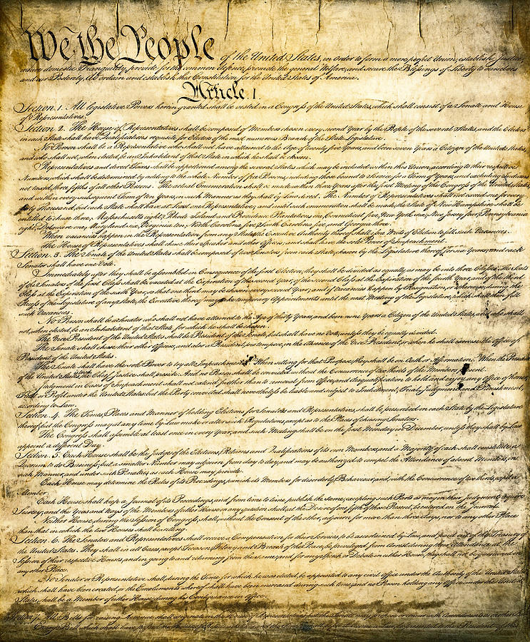 Constitution Photograph - CONSTITUTION of the UNITED STATES by Daniel Hagerman