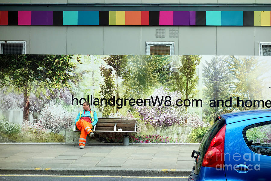 Pete Photograph - Construction 01 - Somewhere Under The Rainbow by Pete Edmunds