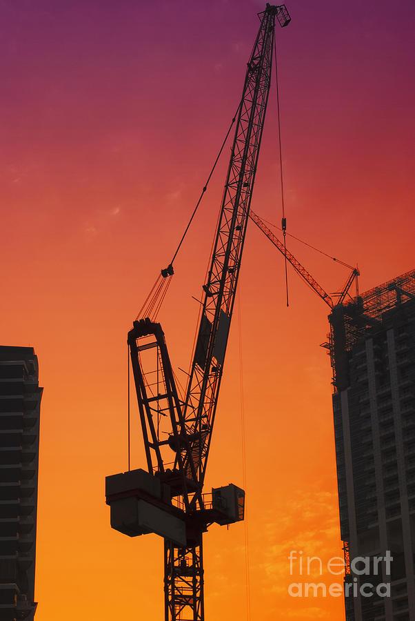 Construction Pyrography - Construction Site by Jelena Jovanovic
