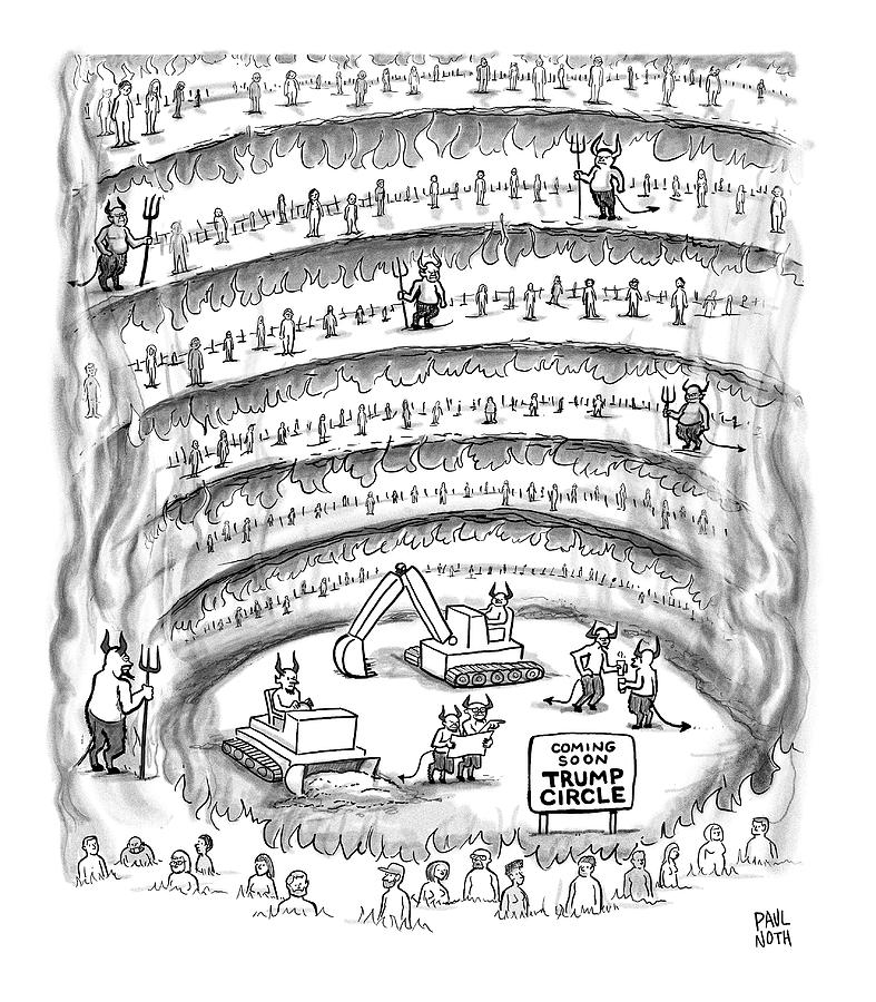 Construction Work In Hell Drawing by Paul Noth