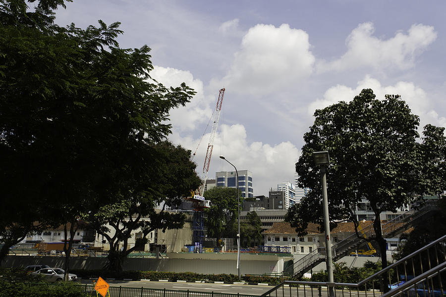 Asia Photograph - Construction Work Ongoing In Singapore by Ashish Agarwal