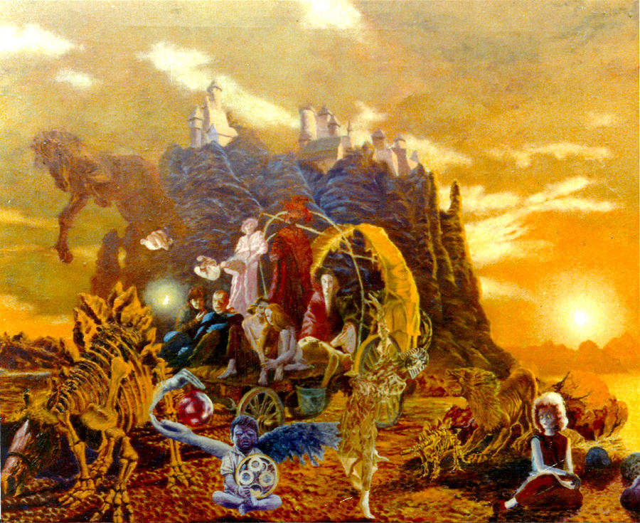 Henryk Painting - Constructors Of Time by Henryk Gorecki