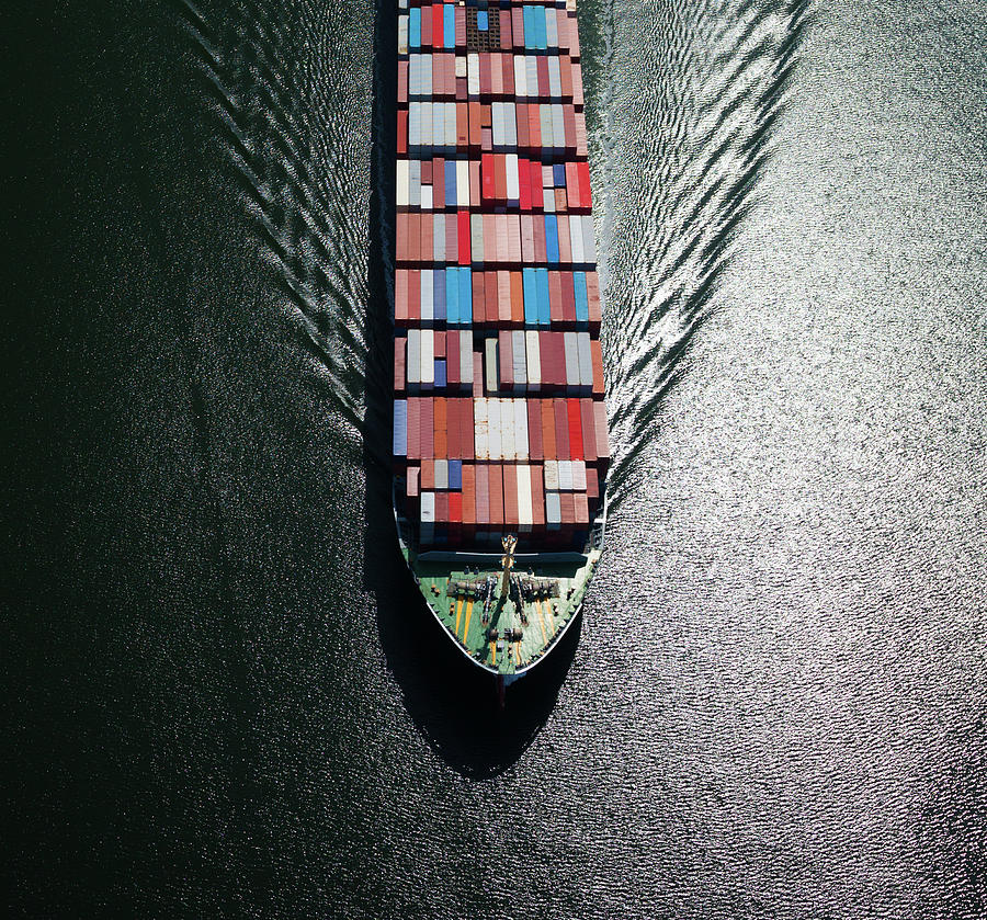 Container Ship Bow Photograph by Dan prat