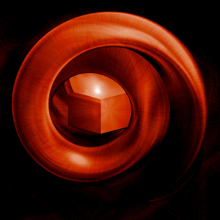 Orange Digital Art - Containment by Elizabeth S Zulauf