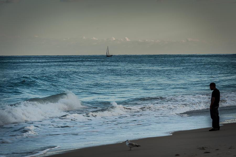 Sea Photograph - Contemplation by Paul Johnson