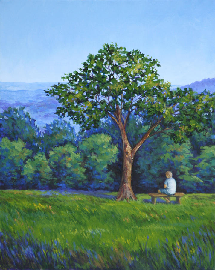 Landscape Painting - Contemplation by Penny Birch-Williams