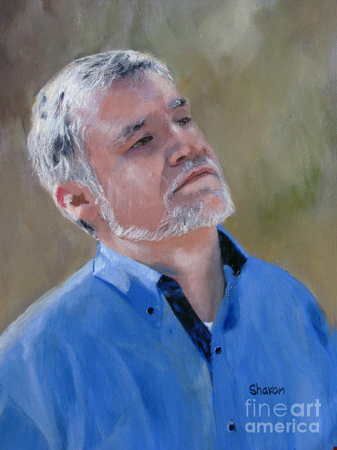 Man Painting - Contemplation by Sharon Burger