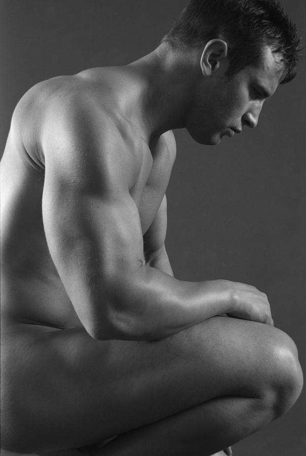 Male Nude Photograph - Contemplation by Thomas Mitchell