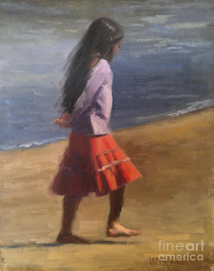 Figurative Painting - Contemplation by Wendy Gordin