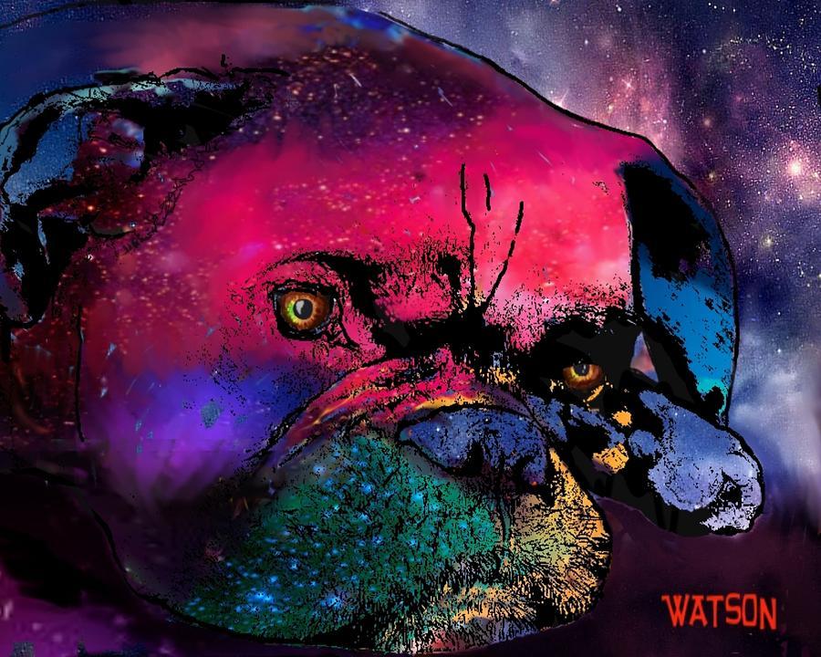 Boxer Prints Digital Art - Contemplative Boxer Dog by Marlene Watson