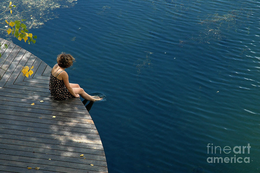 Woman. Portrait. Lake. Blue Lake Ranch Photograph - Contemplative  by Tina Osterhoudt